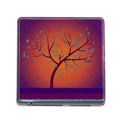 Beautiful Tree Background Memory Card Reader (Square)