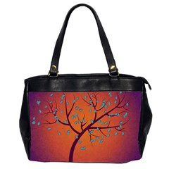 Beautiful Tree Background Office Handbags (2 Sides)