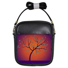 Beautiful Tree Background Girls Sling Bags