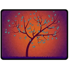 Beautiful Tree Background Fleece Blanket (Large)