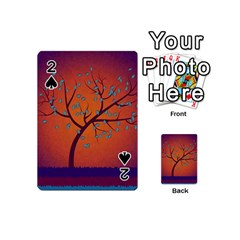Beautiful Tree Background Playing Cards 54 (Mini)