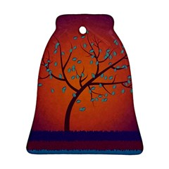 Beautiful Tree Background Ornament (Bell)