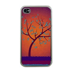 Beautiful Tree Background Apple Iphone 4 Case (clear)