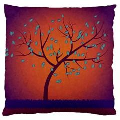 Beautiful Tree Background Large Cushion Case (One Side)