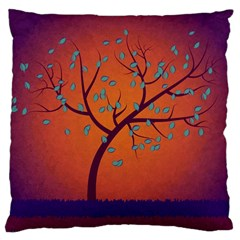 Beautiful Tree Background Large Cushion Case (Two Sides)