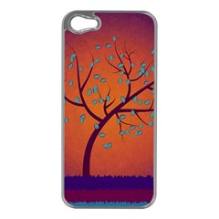 Beautiful Tree Background Apple Iphone 5 Case (silver)