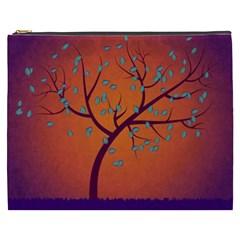 Beautiful Tree Background Cosmetic Bag (XXXL)