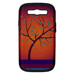 Beautiful Tree Background Samsung Galaxy S III Hardshell Case (PC+Silicone)