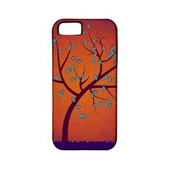 Beautiful Tree Background Apple iPhone 5 Classic Hardshell Case (PC+Silicone)