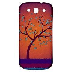 Beautiful Tree Background Samsung Galaxy S3 S III Classic Hardshell Back Case