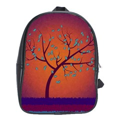 Beautiful Tree Background School Bags (xl)