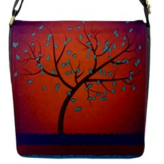 Beautiful Tree Background Flap Messenger Bag (S)