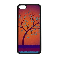 Beautiful Tree Background Apple iPhone 5C Seamless Case (Black)