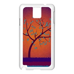 Beautiful Tree Background Samsung Galaxy Note 3 N9005 Case (white)