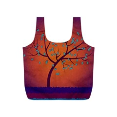 Beautiful Tree Background Full Print Recycle Bags (S)