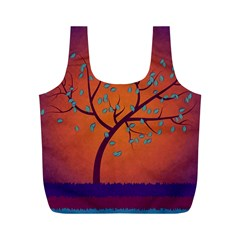 Beautiful Tree Background Full Print Recycle Bags (m)