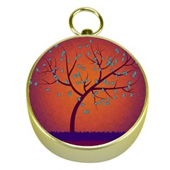 Beautiful Tree Background Gold Compasses