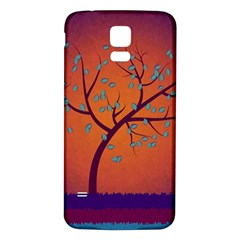 Beautiful Tree Background Samsung Galaxy S5 Back Case (white)