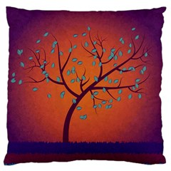 Beautiful Tree Background Standard Flano Cushion Case (two Sides)