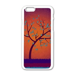 Beautiful Tree Background Apple Iphone 6/6s White Enamel Case