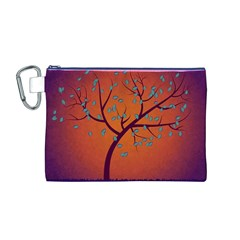 Beautiful Tree Background Canvas Cosmetic Bag (m)