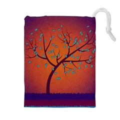 Beautiful Tree Background Drawstring Pouches (Extra Large)