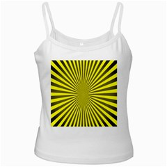 Sunburst Pattern Radial Background White Spaghetti Tank