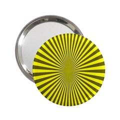 Sunburst Pattern Radial Background 2.25  Handbag Mirrors