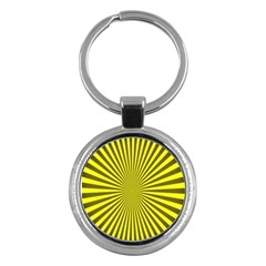 Sunburst Pattern Radial Background Key Chains (round)