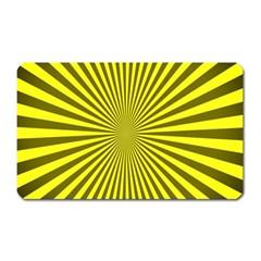 Sunburst Pattern Radial Background Magnet (rectangular)