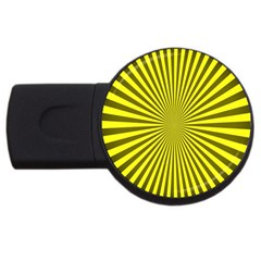 Sunburst Pattern Radial Background Usb Flash Drive Round (2 Gb)