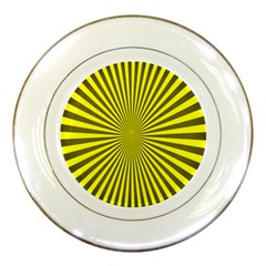 Sunburst Pattern Radial Background Porcelain Plates