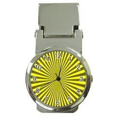 Sunburst Pattern Radial Background Money Clip Watches