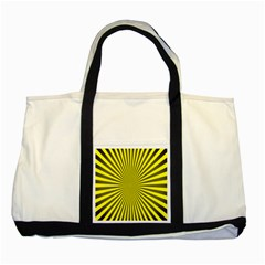 Sunburst Pattern Radial Background Two Tone Tote Bag