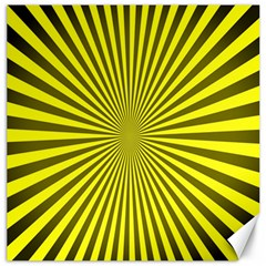 Sunburst Pattern Radial Background Canvas 16  x 16