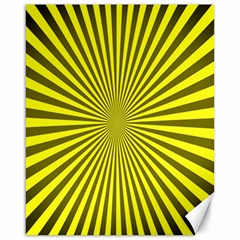 Sunburst Pattern Radial Background Canvas 16  x 20