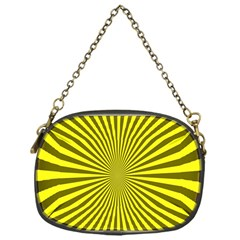 Sunburst Pattern Radial Background Chain Purses (one Side)