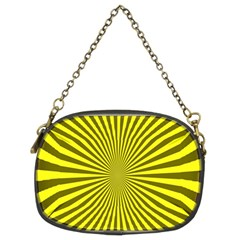 Sunburst Pattern Radial Background Chain Purses (Two Sides)