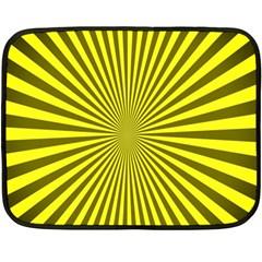 Sunburst Pattern Radial Background Fleece Blanket (mini)