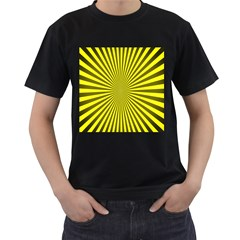 Sunburst Pattern Radial Background Men s T Shirt (black)