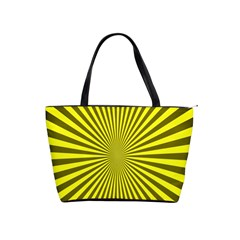 Sunburst Pattern Radial Background Shoulder Handbags