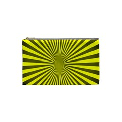 Sunburst Pattern Radial Background Cosmetic Bag (small)