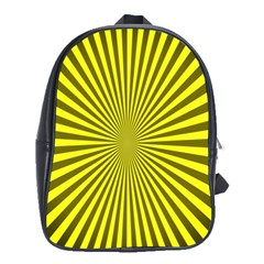 Sunburst Pattern Radial Background School Bags(Large)