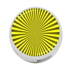 Sunburst Pattern Radial Background 4-Port USB Hub (One Side)