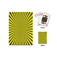 Sunburst Pattern Radial Background Playing Cards (Mini)
