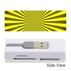 Sunburst Pattern Radial Background Memory Card Reader (Stick)