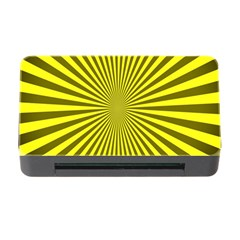 Sunburst Pattern Radial Background Memory Card Reader With Cf