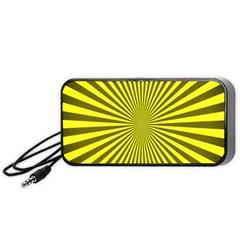 Sunburst Pattern Radial Background Portable Speaker (Black)