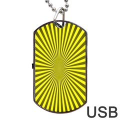 Sunburst Pattern Radial Background Dog Tag USB Flash (One Side)