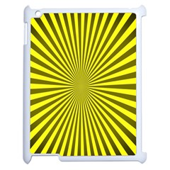 Sunburst Pattern Radial Background Apple iPad 2 Case (White)
